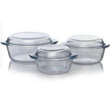 Pyrex High Quality Essential Glass Bowls Set - 3 Pieces - White