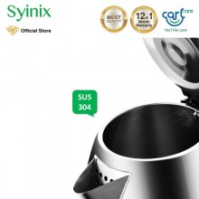 Syinix CLS-1801 Electric Kettle - 1.8L Silver