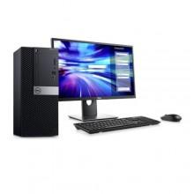 """DELL OptiPlex 7070 Intel Core i7-9500 Six Core 4.4GHz 9M - 1TBHDD - 4GB RAM + 19"""" Monitor - Windows 10 - Black"""