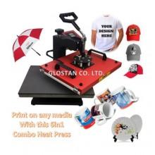6 in 1 Heat Press Printing Machine - Red/Black