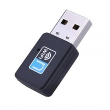 Mini Wireless USB WiFi Receiver Adapter - Black