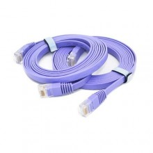 Cat 6 Ethernet Cable - Flat Internet Network Cable- 1M Purple