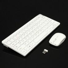 Wireless Keyboard & Mouse Combo - White + Free BT Headphone