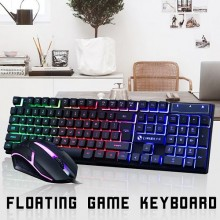2.4GHZ Wired Gaming Mouse With Backlight Keyboard - Black
