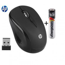 Hp Silent Wireless Mouse + Energizer Battery - Black