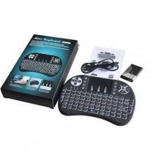 Mini Wireless Keyboard/Touchpad with Backlight - Black