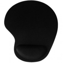 Mouse Pad with Wrist Gel Rest - Black