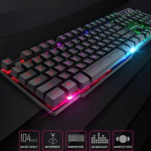 Imice 104 Keycaps Gaming Keyboard With Backlight - Black