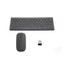 Mini 2.4GHz Wireless Keyboard & Mouse Combo - Black