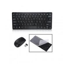 Wireless Mini Wireless Keyboard and Mouse Set - Black