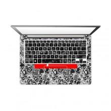Multi-design Vinyl Laptop Sticker - Multicolour