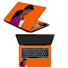 Laptop Sticker Princess Kari Drinking -Multicolour