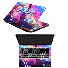 / Rick and Morty Laptop Sticker- 15.6 inches- Multicolour