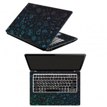 Flaticons Laptop Sticker- 15.6 inches- Multicolour