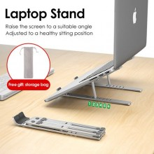 WiWU S400 Adjustable Laptop Stand - Silver
