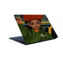 Laptop Sticker Princess Kari bus- Multicolour
