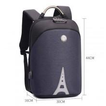 Hp power Anti-Theft Waterproof Multi-Functional Backpack - Dark Grey