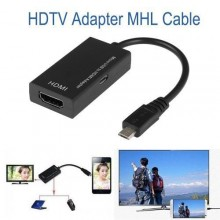 Universal Micro USB To HDMI Adapter Cable - Black