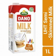Dano UHT Semi-Skimmed Milk - 1.5% Fat - 1 Litre