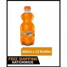 Fanta Orange Flavoured Drink - 300ml x 12 Bottles