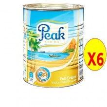 Peak Instant Full Cream Milk Powder Tin - 400g x 6 Tins