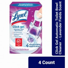 Lysol Click Gel Automatic Toilet Bowl Cleaner - Lavender Fields Scent - 4 Count