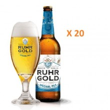 Ruhrgold Special Pils Premium Beer - 500ml x 20 Bottles