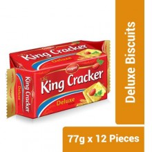 Royal King Cracker Deluxe Biscuits - 77g x 12 Pieces